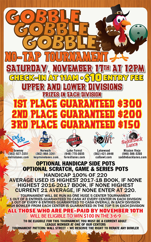 Gobble Gobble Tournament Flyer